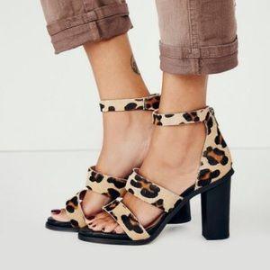 Free People Leopard Loca Heel